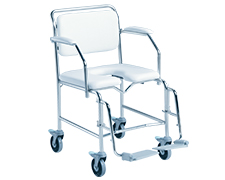 K-Care Mobile Maxi Shower Commode – Larger Seat